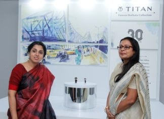 . (L-R) Ms. Suparna Mitra, Chief Marketing Officer, Watches and Accessories, Titan Company Limited and Ms. Rajeshwari Srinivasan, Associate Vice President and Regional Business Head – East, Titan Company Limited launches the new Titan Forever Kolkata Collection