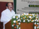 The Vice President of India, Shri M. Venkaiah Naidu addressing the gathering after interacting with the Agricultural Researchers on 'Doubling Farm Income by 2022 in Andhra Pradesh and Telangana', at ICAR - Indian Institute of Rice Research, in Hyderabad on March 31, 2018.