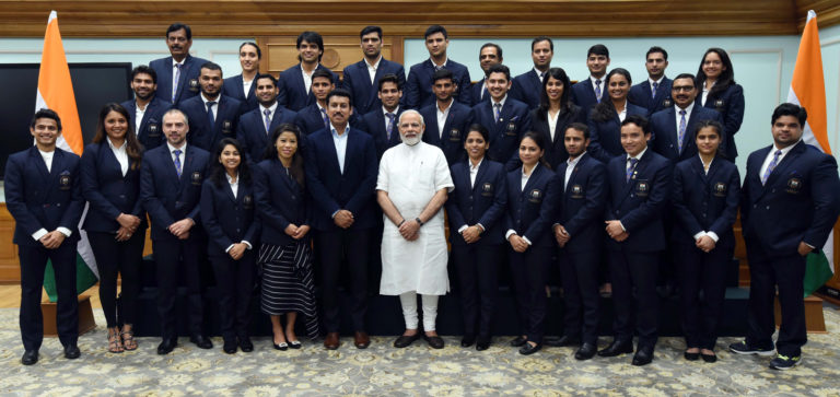 PM's interaction with Medal Winners of the Commonwealth Games
