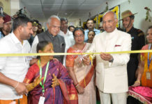 The President, Shri Ram Nath Kovind inaugurating the Kidney Transplant Unit and Cardiac Unit of the Sri Narayani Hospital and Research Centre, Thirumalaikodi, at Vellore, in Tamil Nadu on May 04, 2018. The Governor of Tamil Nadu, Shri Banwarilal Purohit is also seen.