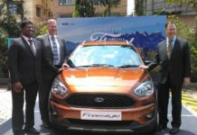 Mr Antony Cherian Kurian, General Manager, Centre of Excellence - Sales Production Capacity Planning system - Ford India at the launch of Ford Freestyle in Kolkata