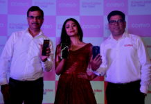 Mr. Sumit Sehgal, Chief Marketing Officer, COMIO Smartphones_ Ms. Ritabhari Chakraborty_ Mr. Sanjay Kalirona, CEO & Director, COMIO Smartphones