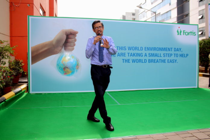 Dr Raja Dhar and Team Fortis on World Envirnment Day 5