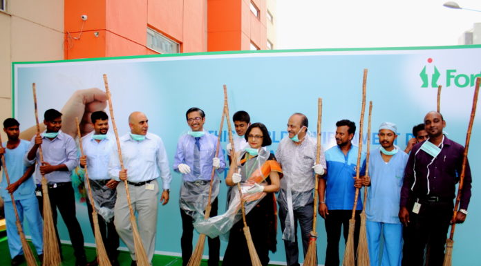 Dr Raja Dhar and Team Fortis on World Envirnment Day