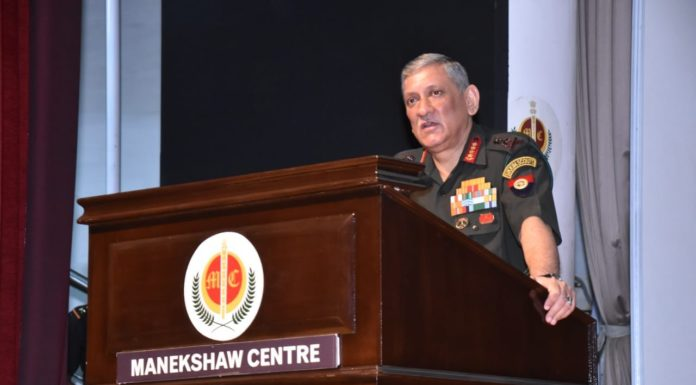 Gen Bipin Rawat, Chief of the Army Staff India