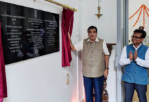 The Union Minister for Road Transport & Highways, Shipping and Water Resources, River Development & Ganga Rejuvenation, Shri Nitin Gadkari inaugurating Swami Vivekanand Cultural Centre, in Dushanbe on June 21, 2018.
