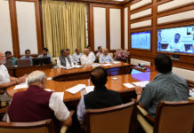 The Prime Minister, Shri Narendra Modi chairing twenty- seventh interaction through PRAGATI - the ICT-based, multi-modal platform for Pro-Active Governance and Timely Implementation, in New Delhi on June 27, 2018.