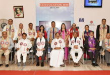 The Vice President, Shri M. Venkaiah Naidu with the faculty members of The ICFAI University, in Dehradun, Uttarakhand on July 14, 2018. The Governor of Uttarakhand, Shri Krishan Kant Paul, the Chief Minister of Uttarakhand, Shri Trivendra Singh Rawat and other dignitaries are also seen.