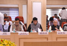 The Union Minister for Railways, Coal, Finance and Corporate Affairs, Shri Piyush Goyal chairing the 28th GST Council meeting, in New Delhi on July 21, 2018. The Minister of State for Finance, Shri Shiv Pratap Shukla and the Finance Secretary, Dr. Hasmukh Adhia are also seen.