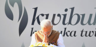 The Prime Minister, Shri Narendra Modi at the Kigali Genocide Memorial Centre, in Rwanda on July 24, 2018.
