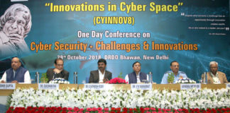 The Member, NITI Aayog, Dr. V.K. Saraswat at the inauguration of the conference on Cyber Security - Challenges and Innovations, in New Delhi on October 29, 2018. The Secretary, Department of Defence Research and Development (DDR&D) and Chairman, Defence Research and Development Organisation (DRDO), Dr. G. Satheesh Reddy and other dignitaries are also seen.