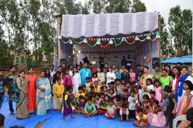 POTHER DAABI SCHOOL FOR POOR KIDS AT BANGALORE ON INDEPENDENCE DAY 2018 2