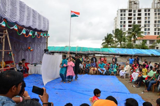 POTHER DAABI SCHOOL FOR POOR KIDS AT BANGALORE ON INDEPENDENCE DAY 2018