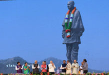 The Prime Minister, Shri Narendra Modi at the dedication ceremony of the 'Statue of Unity' to the Nation, on the occasion of the Rashtriya Ekta Diwas, at Kevadiya, in Narmada District of Gujarat on October 31, 2018.