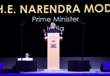 The Prime Minister, Shri Narendra Modi delivering the keynote address at the Singapore Fintech Festival, in Singapore on November 14, 2018.