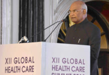 The President, Shri Ram Nath Kovind addressing at the inauguration of the 12th Global Healthcare Summit, organised by the American Association of Physicians of Indian Origin, in Mumbai on December 28, 2018.