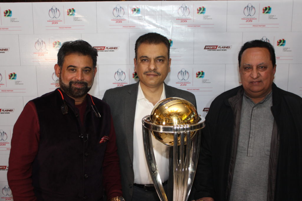 2019 ICC World Cup trophy showcased by Sports Flashes today at INOX, Nehru Place