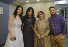 Richa Sharma and Manish Sultania with Sharbari Datta