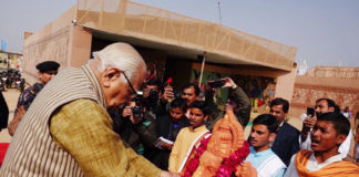 The Governor of Uttar Pradesh, Shri Ram Naik inaugurating the Sanskriti Kumbh cultural extravaganza, at Kumbh Mela area, in Prayagraj, Uttar Pradesh on January 10, 2019.