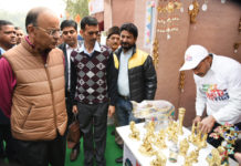 The Union Minister for Finance and Corporate Affairs, Shri Arun Jaitley visiting after inaugurating the Hunar Haat Exhibition, in New Delhi on January 13, 2019.