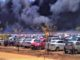 Fire breaks out at car parking area near the venue