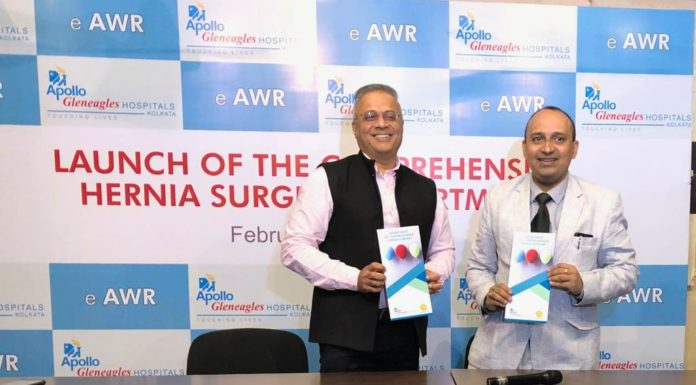 Dr B Ramana and Dr Joy Basu at Apollo Comprehensive Hernia Surgery Department Launch 2