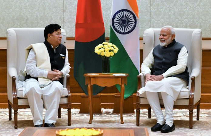 The Minister of Foreign Affairs of the People's Republic of Bangladesh, Dr. A.K. Abdul Momen calling on the Prime Minister, Shri Narendra Modi, in New Delhi on February 07, 2019.