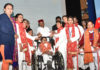 "The Union Minister for Social Justice and Empowerment, Shri Thaawar Chand Gehlot at the inauguration of the ""National Conference on Deendayal Disabled Rehabilitation Schemes (DDRS)"", organised by the Department of Empowerment of Persons with Disabilities (Divyangjan) under M/o Social Justice & Empowerment, in New Delhi on March 01, 2019."