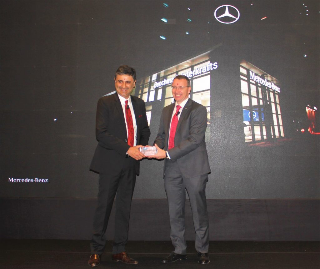 Mr. Martin Schwenk, Managing Director and CEO, Mercedes-Benz India and Mr. Sanjay Thakker, Chairman, Group Landmark at the inauguration of the world-class luxury dealership in Kolkata, West Bengal