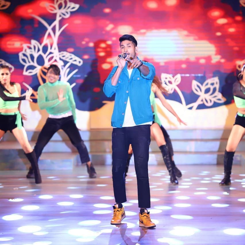 Arjun Kanungo performing at the East Zonal Crowning Ceremony of Fbb Colors Femina Miss India 2019 held at The Westin, Kolkata.