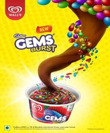 Two New Premium Frozen Desserts: Gems Burst & Oreo and Cream launched