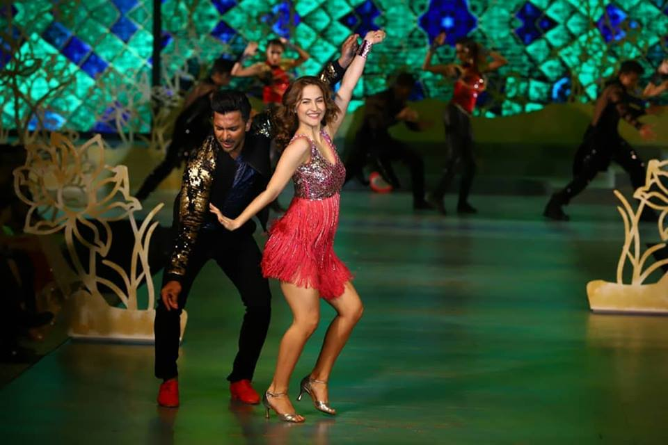 Terrence Lewis & Ellie Avram performing at the East Zonal Crowning Ceremony of Fbb Colors Femina Miss India 2019 held at The Westin, Kolkata.