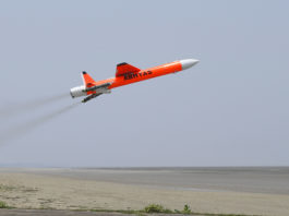Defence Research and Development Organisation (DRDO) successfully conducts flight test of ABHYAS - High-speed Expendable Aerial Target (HEAT) from Interim Test Range, Chandipur, in Odisha on May 13, 2019.