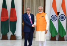 The Prime Minister, Shri Narendra Modi meeting the President of People's Republic of Bangladesh, Mr. Md. Abdul Hamid, at Hyderabad House, in New Delhi on May 31, 2019.