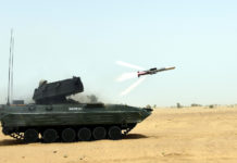 The Indian Army successfully carrying out summer user trials of DRDO developed third Generation Anti-Tank Guided Missile NAG, at Pokhran Field Firing Ranges, Rajasthan.