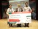 Team from S R M Institute of Science & Technology, Tamil Nadu receiving the Chairman's Award for TI's IICDC 2018 Finals for their innovation on 'Inkless Printing Technology Using Plasma Arc Paper Carburisation.'