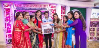 Pradeep Solanki Honored by Radha Madhav Spiritual Club members