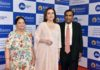 L to R: Smt. Kokilaben D Ambani, Smt Nita M Ambani (Founder & Chairperson, Reliance Foundation) and Shri Mukesh D Ambani (Chairman & Managing Director, Reliance Industries Ltd.) at the 42nd Annual General Meeting of Reliance Industries Limited held today in Mumbai.
