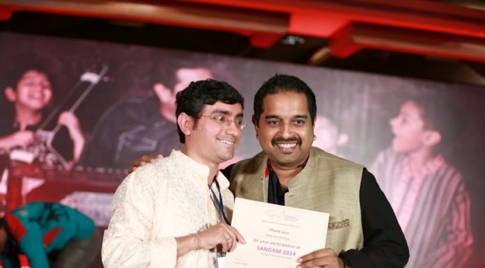 With shankar mahadevan