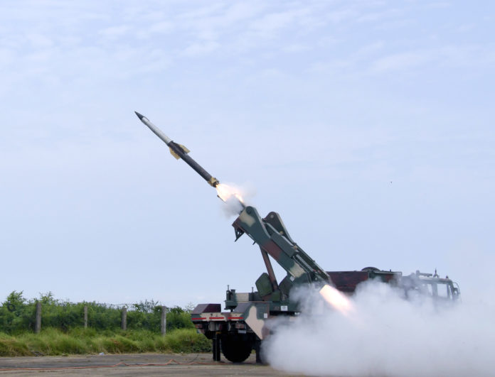DRDO successfully flight-tests state-of-the-art Quick Reaction Surface-to-Air Missiles against live aerial targets from ITR, Chandipur on August 04, 2019.