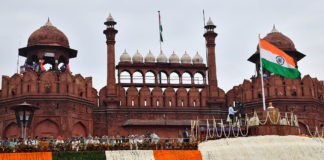 The Prime Minister, Shri Narendra Modi addressing the Nation on the occasion of 73rd Independence Day from the ramparts of Red Fort, in Delhi on August 15, 2019.