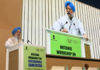 The Minister of State for Housing & Urban Affairs, Civil Aviation (Independent Charge) and Commerce & Industry, Shri Hardeep Singh Puri addressing at the National Workshop Cum-Exhibition on Sustainable Sanitation, jointly organised by the Ministry of Social Justice & Empowerment and Ministry of Housing & Urban Affairs, in New Delhi on August 19, 2019.