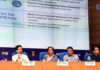The Union Minister for Finance and Corporate Affairs, Smt. Nirmala Sitharaman addressing a press conference, in New Delhi on August 23, 2019. The Minister of State for Finance and Corporate Affairs, Shri Anurag Singh Thakur, the Secretary, Department of Financial Services, Shri Rajiv Kumar, the Principal Director General (M&C), Press Information Bureau, Shri Sitanshu R. Kar and other dignitaries are also seen.