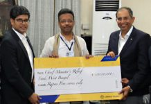 Larsen & Toubro's Contribution to CM Relif Fund, West Bengal