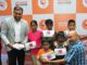 Mr. Rajapandian S, Director, Hearing Solutions Pvt. Ltd and Cricket Legend, Padma Sri Syed Kirmani after gifting the hearing aid gears to the NGO children at the press conference