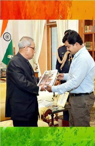 President Pranab Mukherjee and Faruque Ahamed