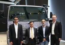 From LtoR -Mr.Pradeep Kumar, VP, Product Engineering, Mr. Satyakam Arya, MD & CEO,Rohit Bhan, Daimler Buses India,Dr. Robert Wodrick,Daimler AG,