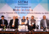 The Union Minister for Defence, Shri Rajnath Singh at the Society of Indian Defence Manufacturers (SIDM) Annual Session 2019 titled 'Make in India: Marching towards US$ 26 Billion Defence Industry by 2025', in New Delhi on September 17, 2019.