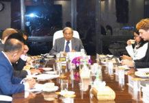 The Chairman of the 15th Finance Commission, Shri N.K. Singh at an investor meeting with the Goldman Sachs India & others, in New Delhi on September 18, 2019.