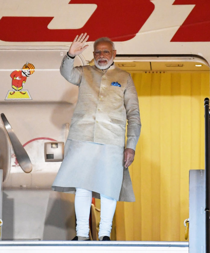 The Prime Minister, Shri Narendra Modi emplanes for his visit to the US, in New Delhi on September 21, 2019.